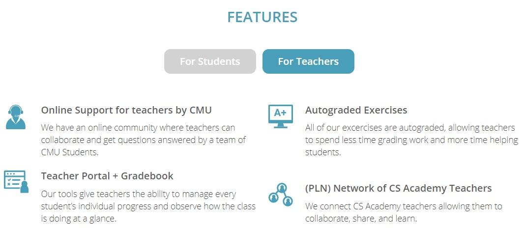 卡内基梅隆为高中生开发编程课程,全免费,提供教师学生双界面